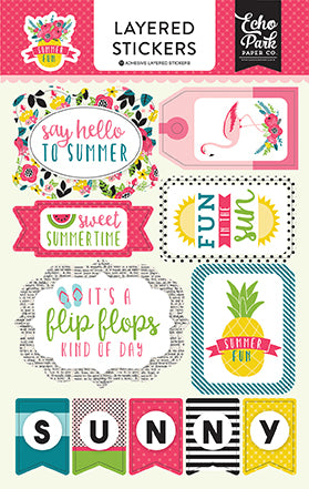 Echo Park Layered Stickers - Summer Fun