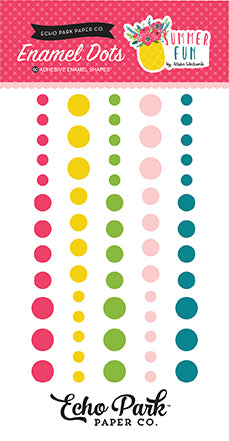 Echo Park Enamel Dots - Summer Fun