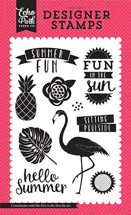 Echo Park Clear Stamp Set - Summer Fun - Fun In the Sun
