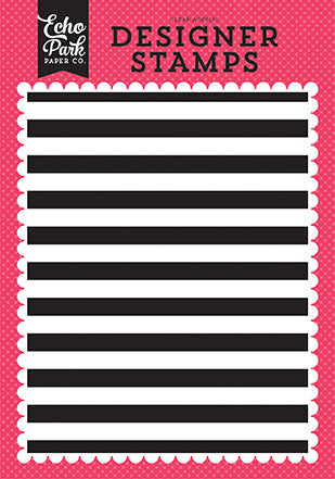 Echo Park Background Stamp - Summer Fun - Cabana Stripe