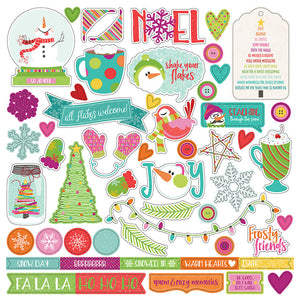 Photo Play 12x12 Cardstock Stickers - Snowball Fight - Elements