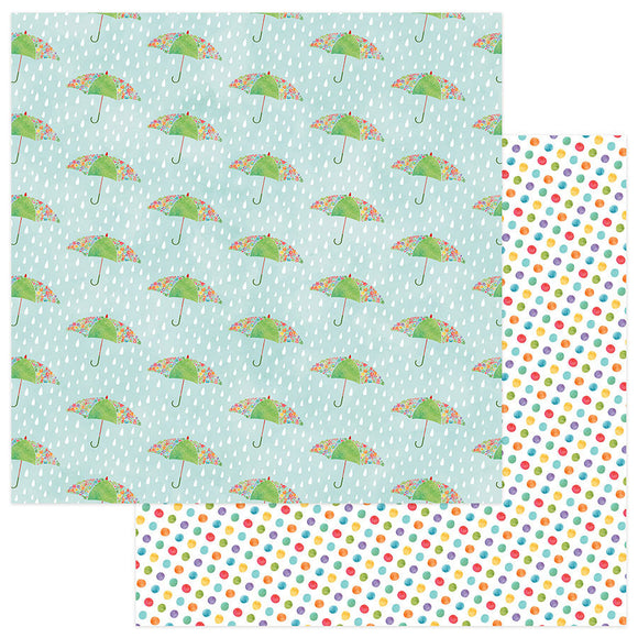 Photo Play Papers - Spring In My Garden - Puddles - 2 Sheets