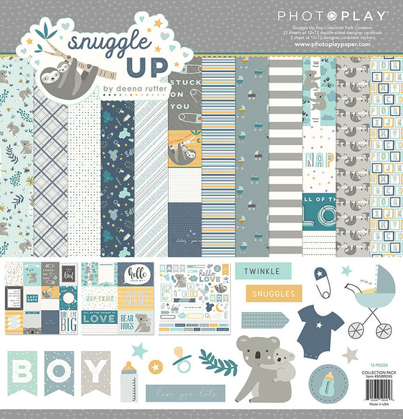 Photo Play Paper Collection Kit - Snuggle Up - Boy