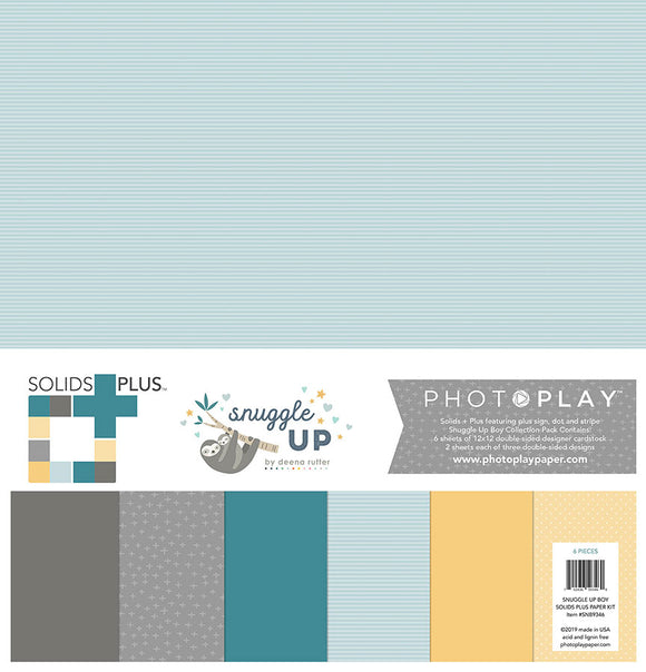 Photo Play Solids Plus Paper Pack - Snuggle Up - Boy - Paper Pack