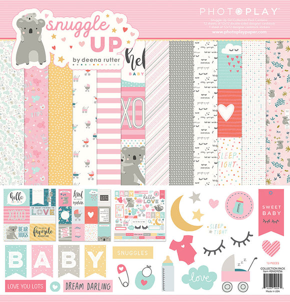 Photo Play Paper Collection Kit - Snuggle Up - Girl