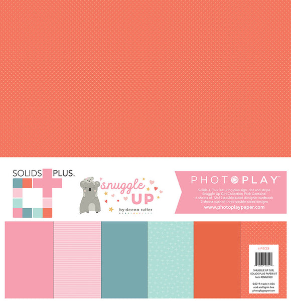 Photo Play Solids Plus Paper Pack - Snuggle Up - Girl - Paper Pack