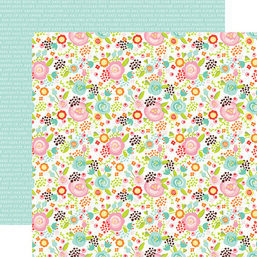 Echo Park Papers - Spring - Fancy Floral - 2 Sheets