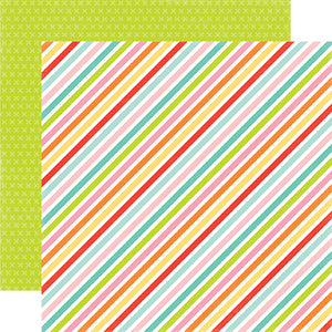 Echo Park Papers - Spring - Sparkling Stripe - 2 Sheets