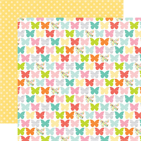Echo Park Papers - Spring - Beaming Butterflies - 2 Sheets