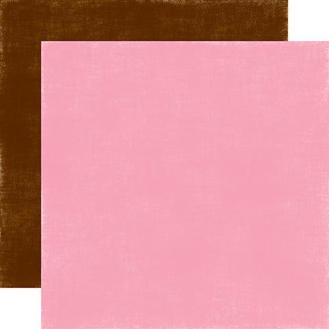 Echo Park Papers - Spring - Pink/Brown - 2 Sheets
