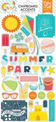 Echo Park Chipboard - Summer Party