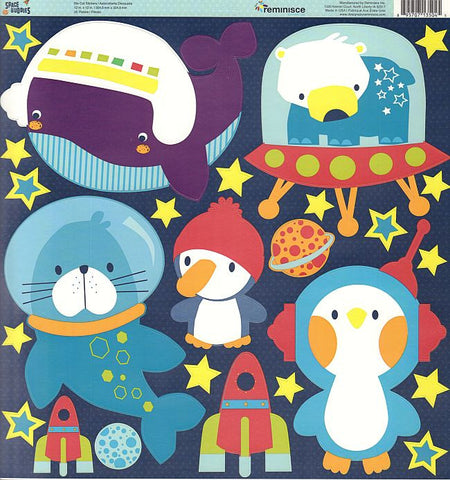 Reminisce 12x12 Cardstock Stickers - Space Buddies - Icons