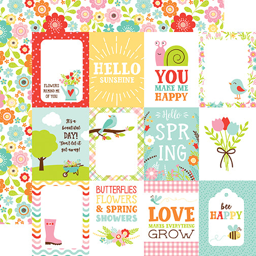 Echo Park Cut-Outs - Spring Fling - 3x4 Journaling Cards