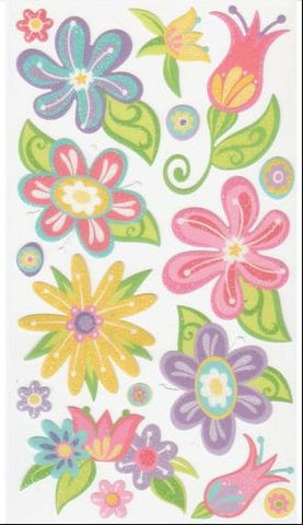 EK Success Sticko Stickers - Fanciful Flowers