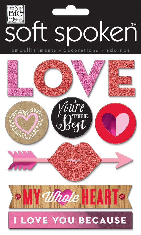 Soft Spoken 3D Embellishments - You're the Best