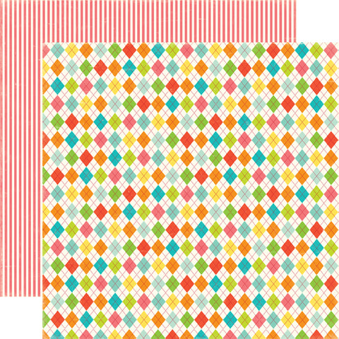 Echo Park Papers - Sweet Summertime - Summer Argyle - 2 Sheets