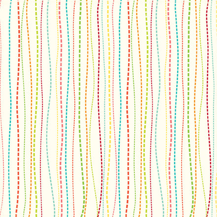 Echo Park Papers - Sweet Summertime - Whimsy Stripe - 2 Sheets