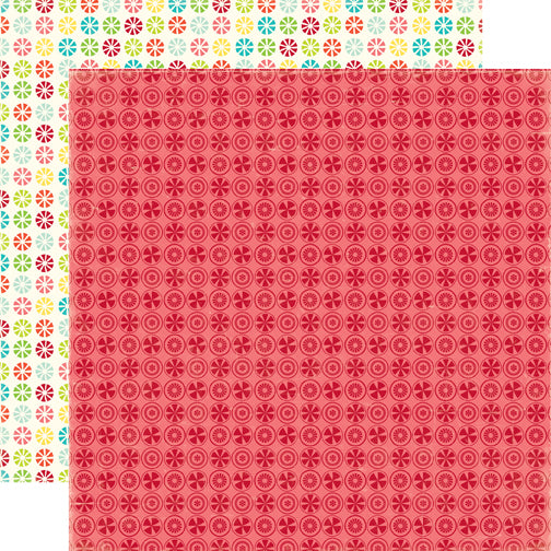 Echo Park Papers - Sweet Summertime - Raspberry Delight - 2 Sheets