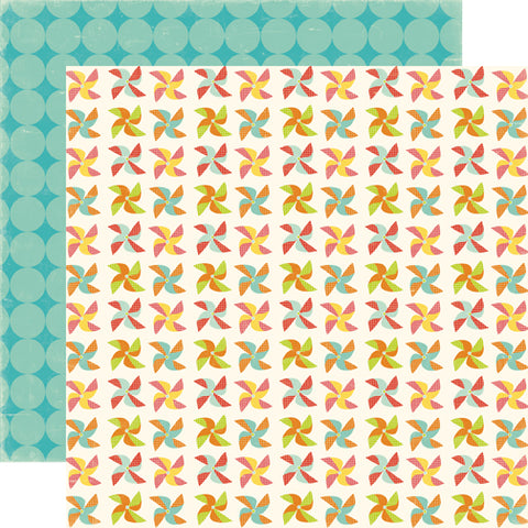 Echo Park Papers - Sweet Summertime - Pinwheels - 2 Sheets