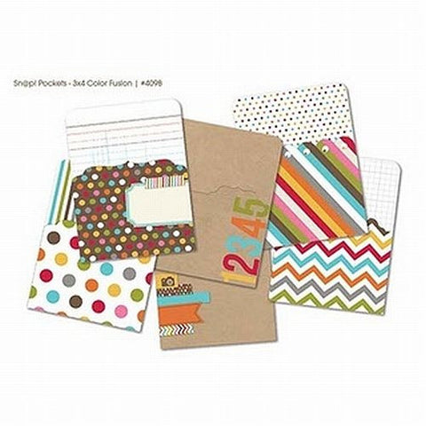 Simple Stories Snap Pockets - 3x4 Color Fusion