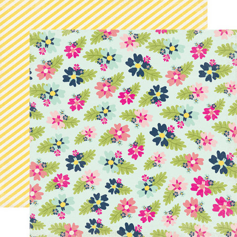 Echo Park Papers - Splendid Sunshine - Fancy Floral - 2 Sheets