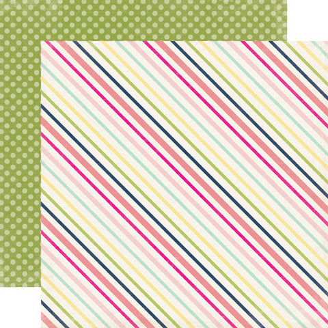 Echo Park Papers - Splendid Sunshine - Sunny Stripe - 2 Sheets