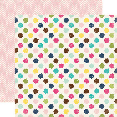 Echo Park Papers - Splendid Sunshine - Darling Dots - 2 Sheets