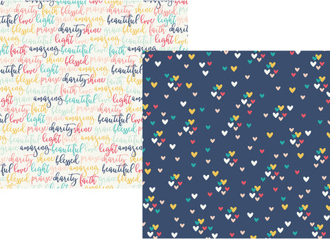 Simple Stories Papers - Faith - Love - 2 Sheets
