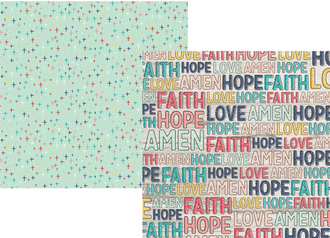 Simple Stories Papers - Faith - Believe - 2 Sheets