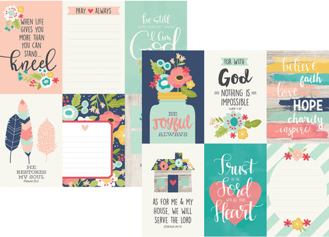 Simple Stories Papers - Faith - 4x6 Vertical Elements - 2 Sheets