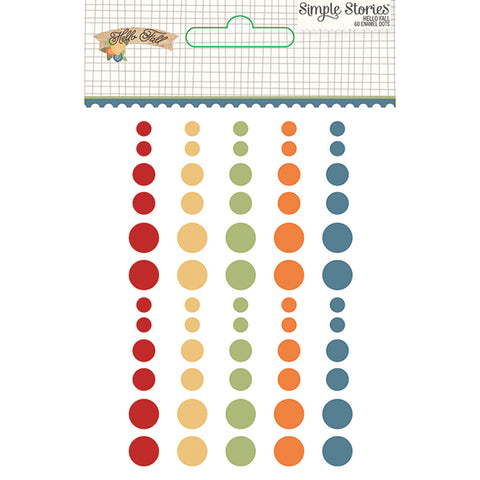 Simple Stories Enamel Dots - Hello Fall