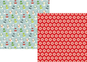 Simple Stories Papers - Sub Zero - Let It Snow - 2 Sheets