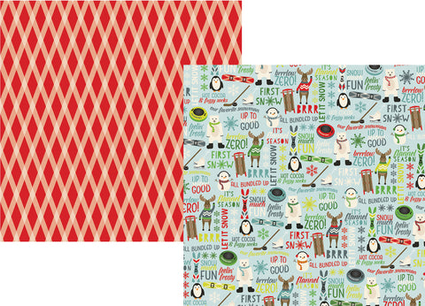 Simple Stories Papers - Sub Zero - Feelin' Frosty - 2 Sheets