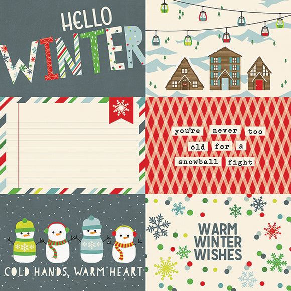 Simple Stories Cut-Outs - Sub Zero- 4x6 Horizontal Elements