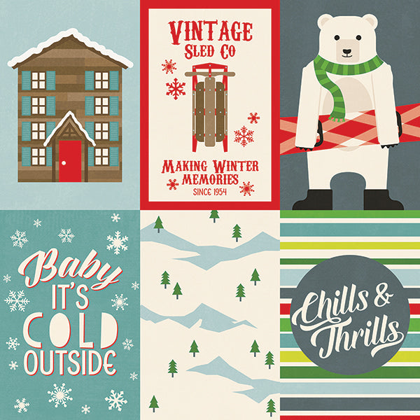 Simple Stories Cut-Outs - Sub Zero- 4x6 Vertical Elements