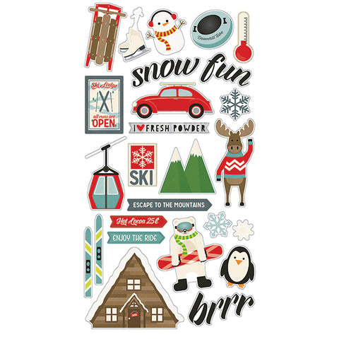 Simple Stories Adhesive Chipboard - Sub Zero