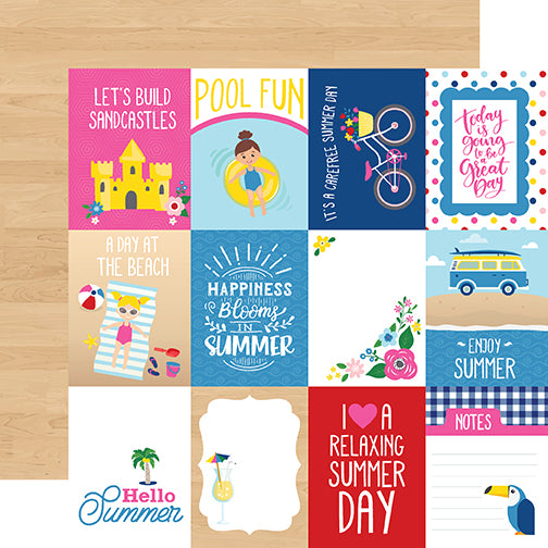 Echo Park Cut-Outs - I Love Summer - 3x4 Journaling Cards