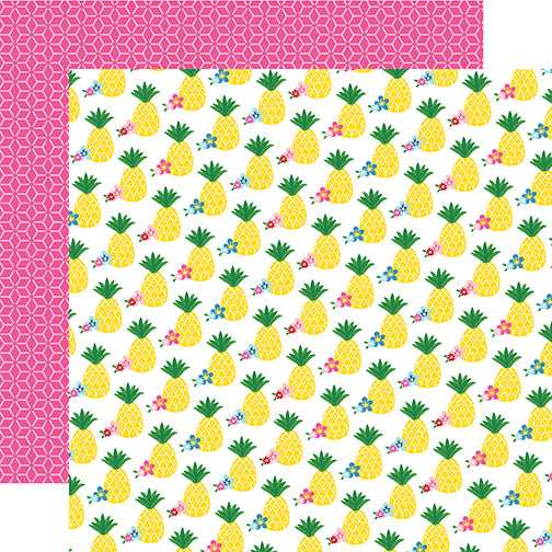 Echo Park Papers - I Love Summer - Pineapple Paradise - 2 Sheets