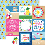 Echo Park Cut-Outs - I Love Summer - 4x4 Journaling Cards