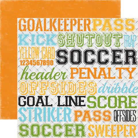 Echo Park Papers - Goal - Soccer Words - 2 Sheets