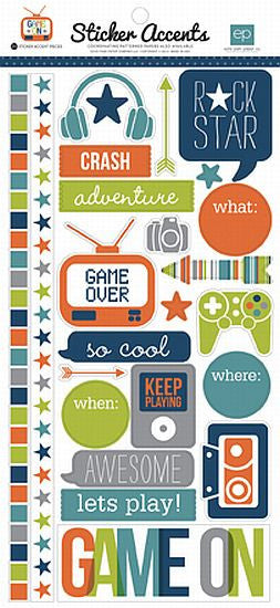 Echo Park Cardstock Stickers - Game On