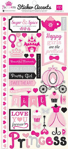 Echo Park Cardstock Stickers - Princess