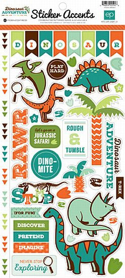 Echo Park Cardstock Stickers - Dinosaur Adventure