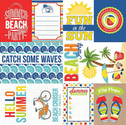 Echo Park Cut-Outs - Beach Party - Journaling