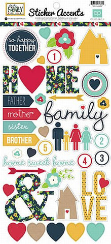 Echo Park Cardstock Stickers - Our Family