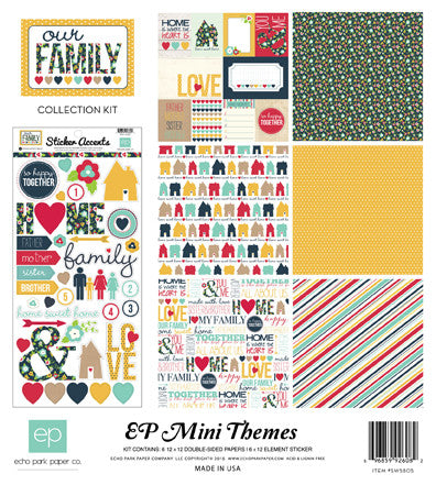 Echo Park Mini Theme Collection Kit - Our Family