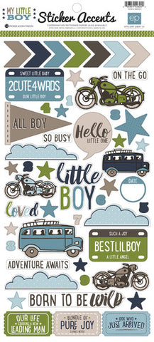 Echo Park Cardstock Stickers - My Little Boy
