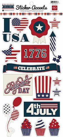 Echo Park Cardstock Stickers - Stars & Stripes