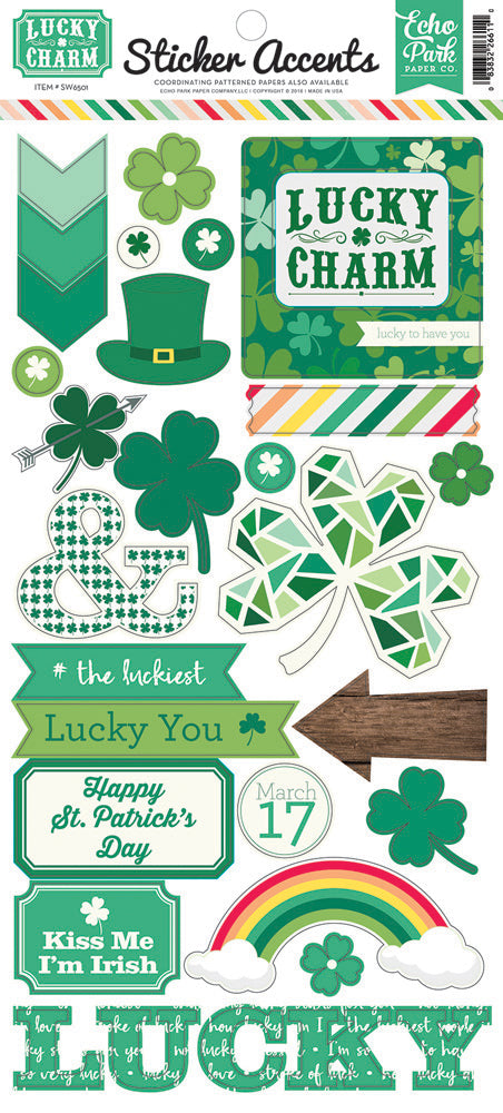 Echo Park Cardstock Stickers - Lucky Charm