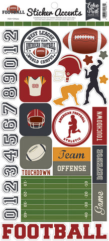 Echo Park Cardstock Stickers - Football